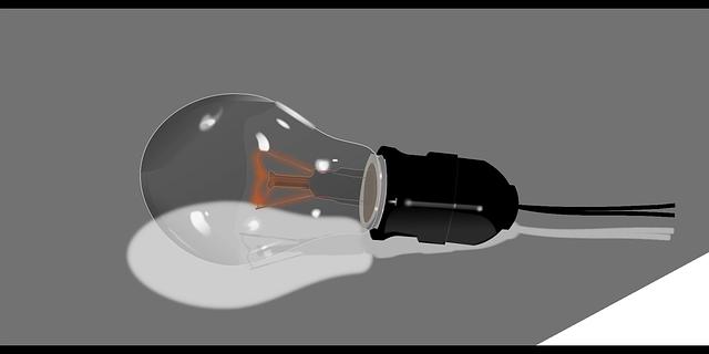 zhasnutá žárovka