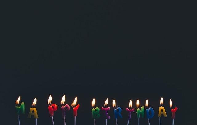 narozeninové svíčky