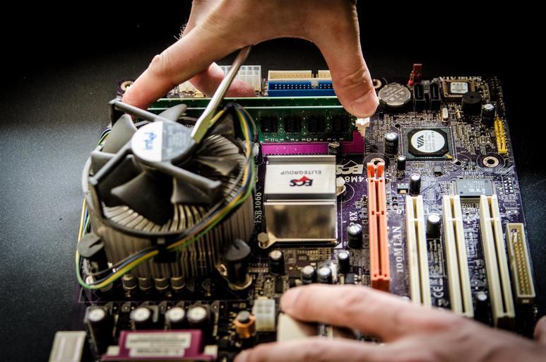 rozebraný počítač